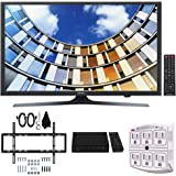 Samsung UN49M5300 49-Inch Full HD Smart LED TV w/Wall Mount Bundle Includes, Slim Flat Wall Mount Ultimate Bundle Kit, HD Digital TV Tuner & SurgePro 6-Outlet Surge Adapter w/Night Light
