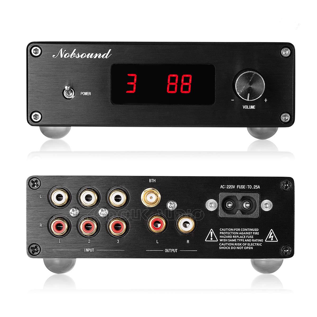 Nobsound PGA2310 Bluetooth 4.2 Audio Receiver Hi-Fi Preamplifier Remote Control