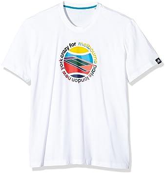 adidas Herren T-Shirt Crazy Tee, Weiß, XXL, 0054260635000053