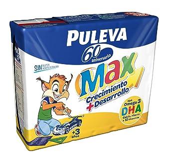 Puleva Max Preparado Lácteo Energía Y Crecimiento - Pack de 3 x 200 ml - Total: 600 ml: Amazon.es: Amazon Pantry