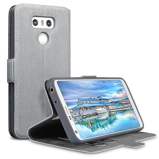 7 opinioni per LG G6 Cover, Terrapin Cover di Pelle con Funzione di Appoggio Posteriore per LG