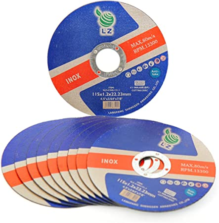 Pack of 10 5 inch X 1mm METAL CUTTING DISC ULTRA THIN
