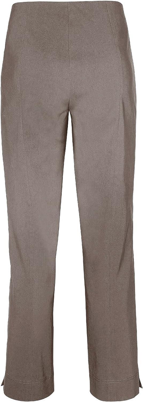 Stehmann Ina 740pour femme Pantalon Super extensible Coupe haute. Straight Fit- le plus confortable pour femme. acheter CE Pantalon une Taille plus petite. Argile.