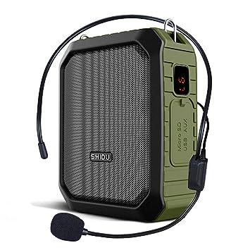 WinBridge Amplificador de Voz con Cable micrófono Auricular megáfono Clip Amp Portable Bluetooth Altavoz Potencia Banco