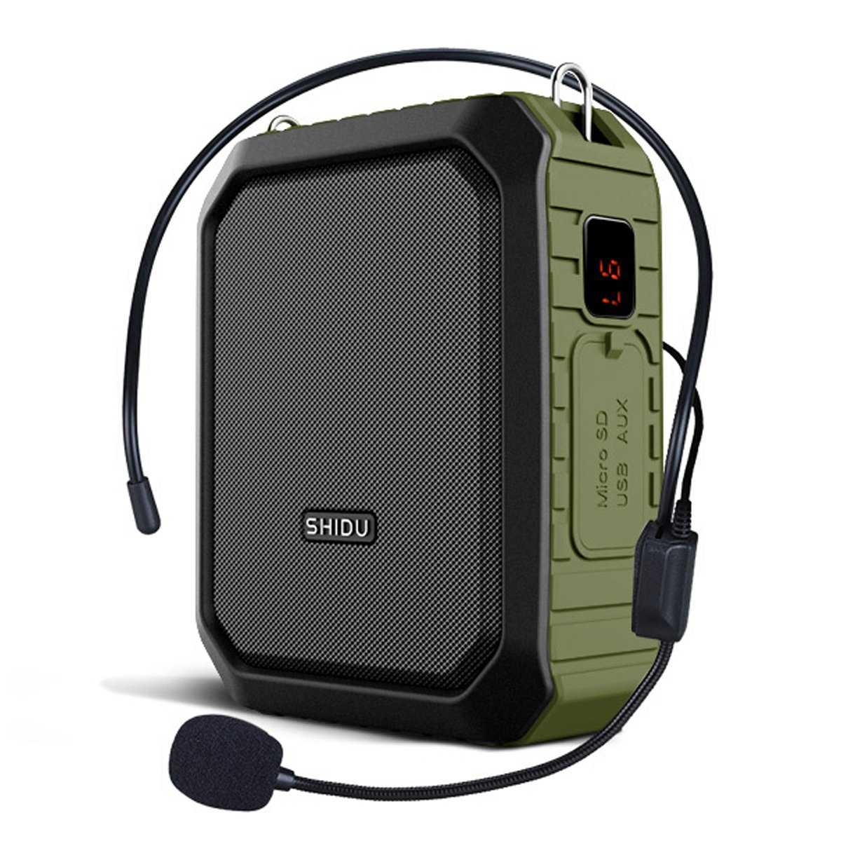 WinBridge Voice Amplifier with Wired Microphone Headset Megaphone Clip Amp Portable Microphone with Speaker Waterproof IPX5 for Outdoors Activities, Teaching, Meetings, Training etc