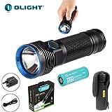 Olight Ensemble lampe torche R50Seeker XLamp XHP50 LED CREE 2500lumens avec batterie rechargeable 266504500mAh et étui TheNines