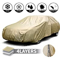 Leader Accessories Funda para Coche Impermeable con Aluminio