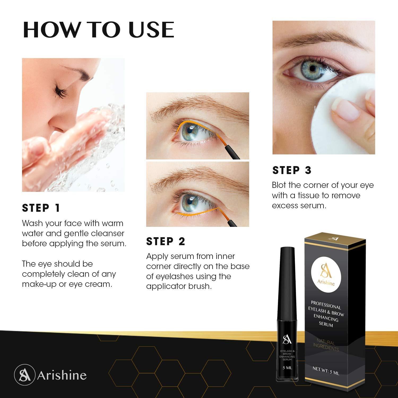 Eyelash and Eyebrow Growth Serum – Natural Eyelash Growth Enhancer and Brow Serum
