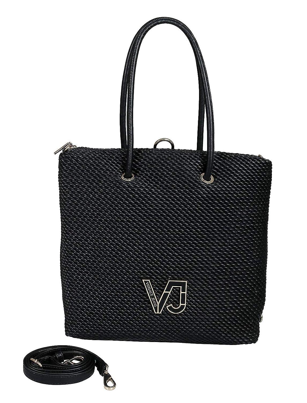 9901e5ce4 Amazon.com: Versace EE1VTBBIA E899 Black Tote Bag for Womens: Shoes