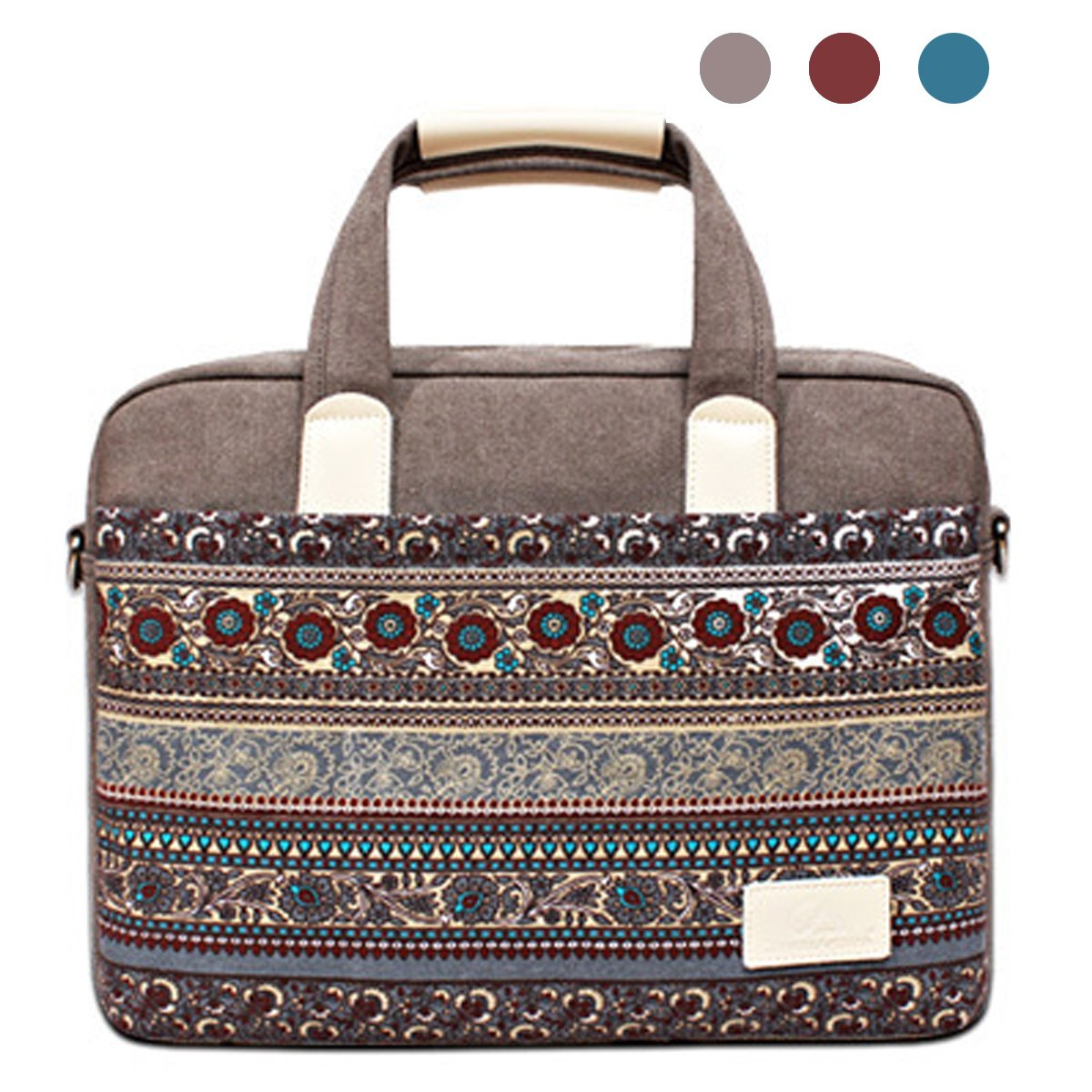 f817c1d62e new YiYiNoe 15.4 inch Canvas Laptop Bag Computer Case Sleeve Shoulder  Messenger Handles Bag Handbag for