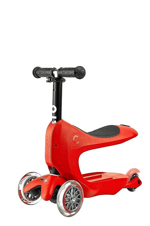 Micro Patinete Mini2Go Deluxe Plus Rojo: Amazon.es: Juguetes ...