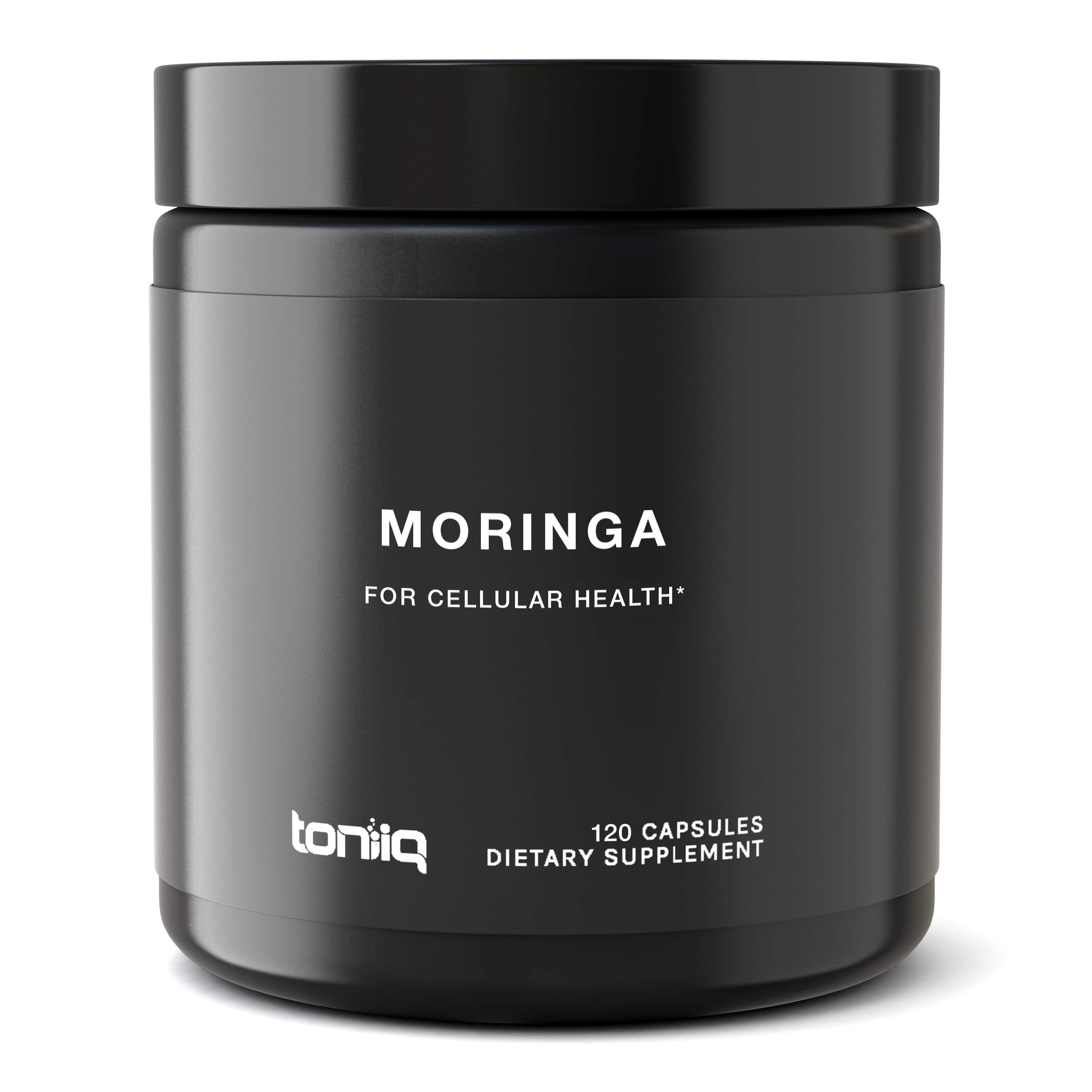 Single Origin Moringa Powder Capsules - Ultra High Strength - 10,000mg 10x Concentrated Extract - The Strongest Moringa Oleifera Supplement Available - 120 Capsules
