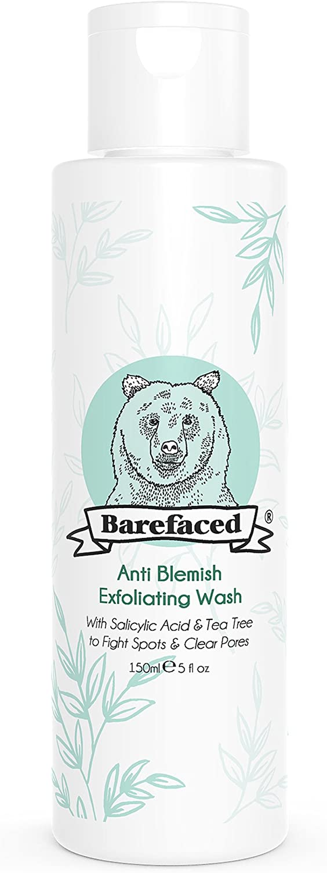 Limpiador facial exfoliante natural antimanchas con árbol de té y ácido salicílico (BHA) – Exfoliador facial orgánico y vegano.