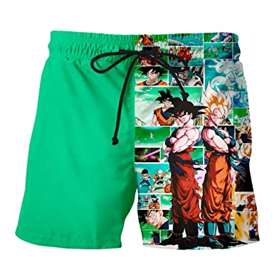 BORO-WY Shorts-Trunks Traje de baño de Verano Anime Dragon ...