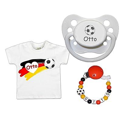 schnullir escaneado Baby Set de regalo con nombres (pequeño Fan de ...