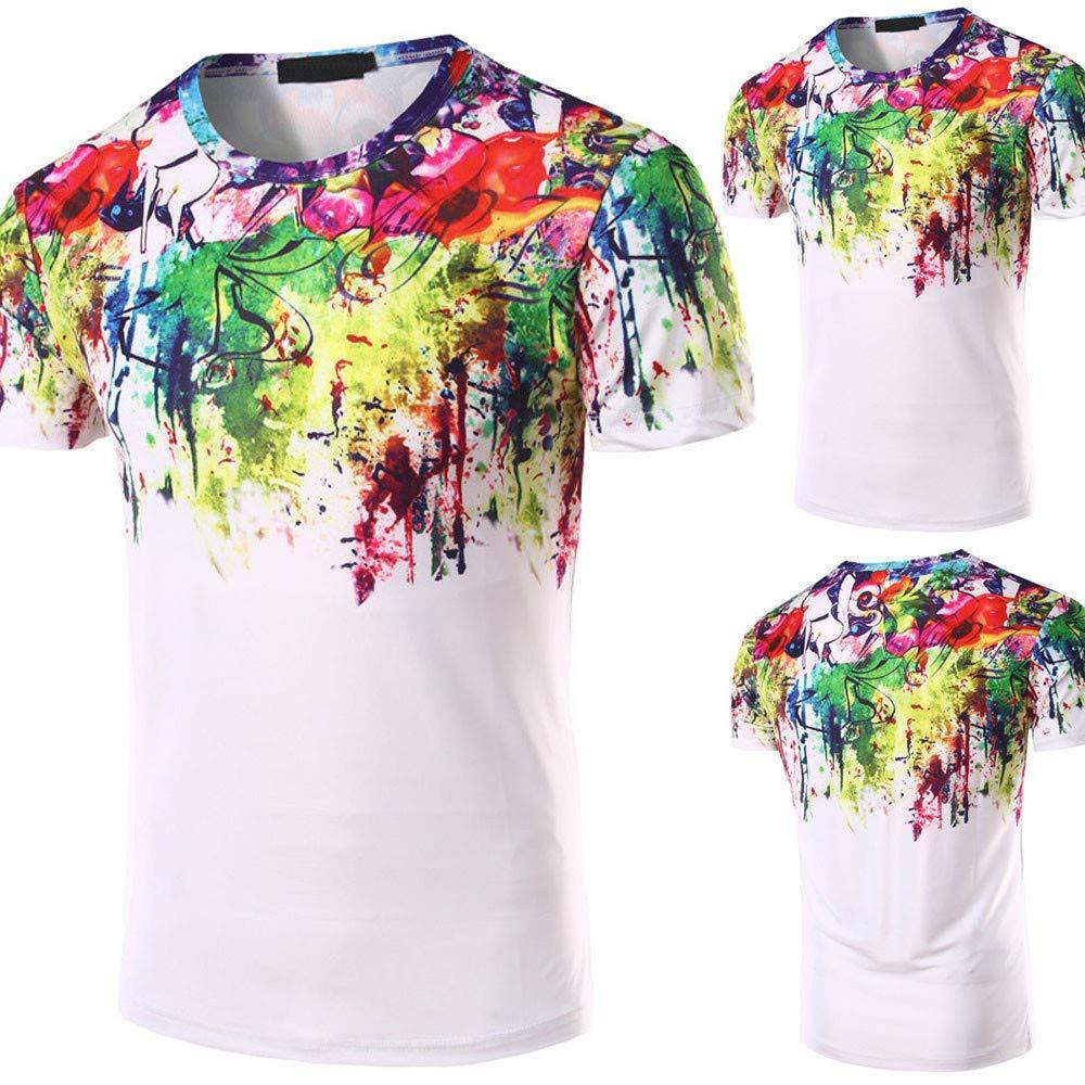 Men/'s T-Shirt Fxbar 3D Graffiti Printed Casual Polo Shirts Summer Essential Tee Shirt