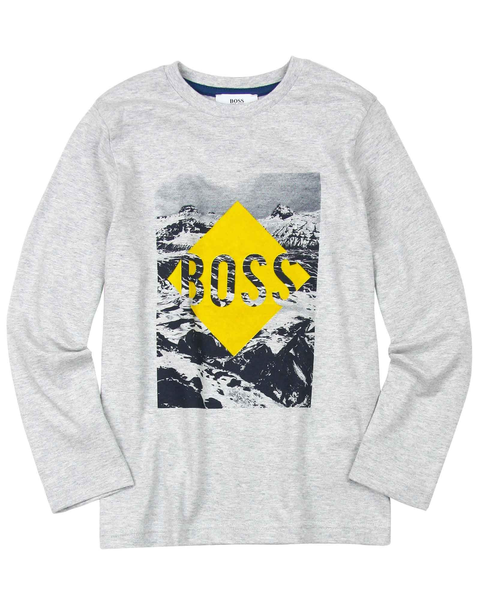 BOSS Boys T-Shirt with Mountains Print, Sizes 6-16 - 6