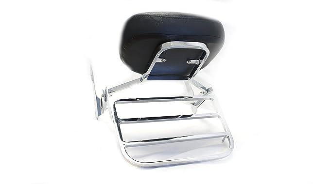 Amazon.com: Mutazu Sissy Bar Backrest w/ Luggage Rack fits Kawasaki Vulcan VN900 900 VN: Automotive