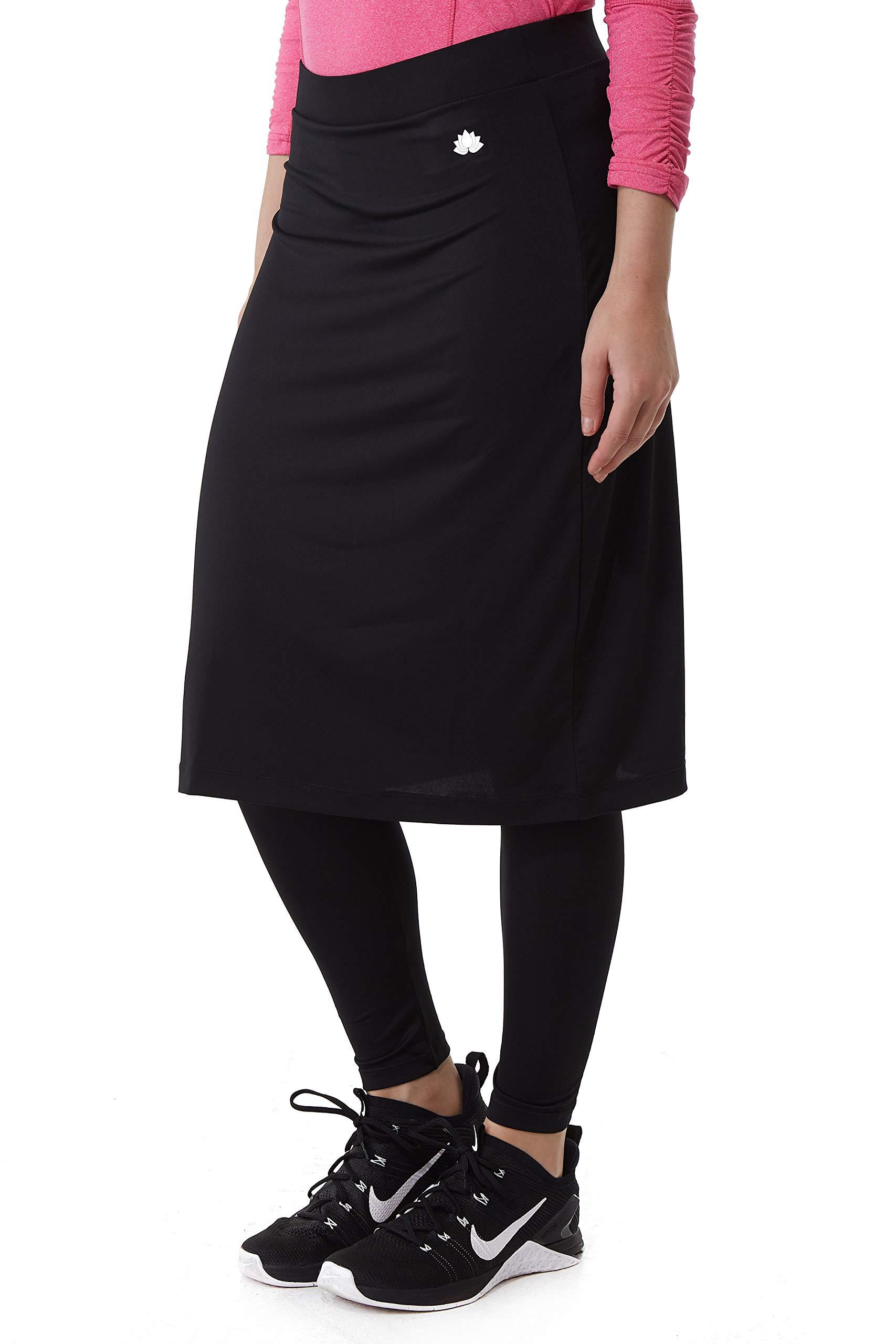 Snoga Athletics Active Midi Skirt with Ankle-Length Leggings - Black, XS