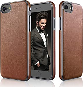 LOHASIC for iPhone SE 2020 Case, iPhone 8 Case, iPhone 7 Leather Case Slim Premium PU Soft Back Cover Grip Protective Classic Business Cases Compatible for iPhone 7/8/SE 2020 [2nd Generation] – Brown