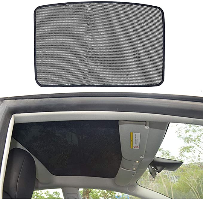RSZX Tesla Model S Sun Shade Sunroof Cover Shade Accessories for Panoramic Sunroof