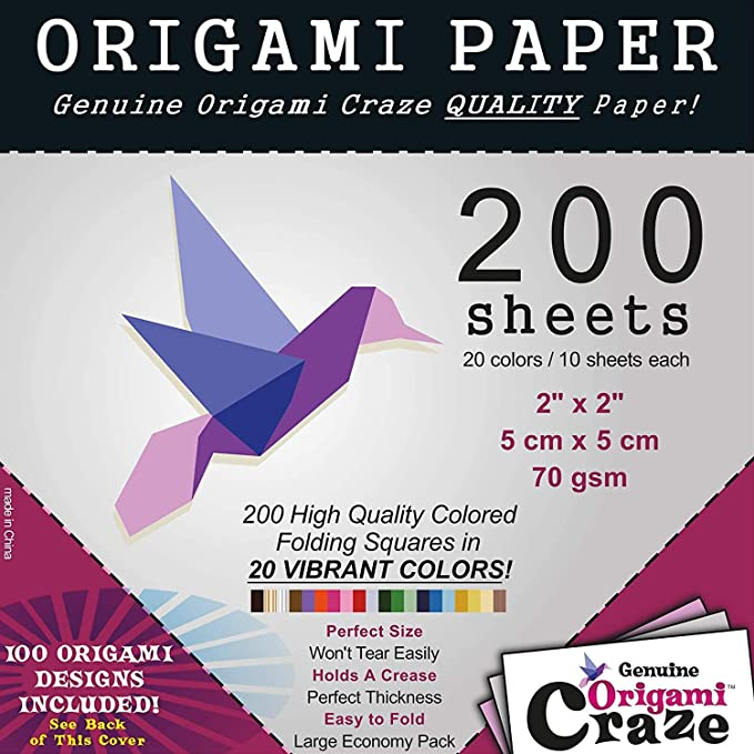 UgyDuky 6 Pack 300 Sheets 15 x 15 cm Square Origami Paper 50 Vivid Colors for DIY Arts and Crafts Projects