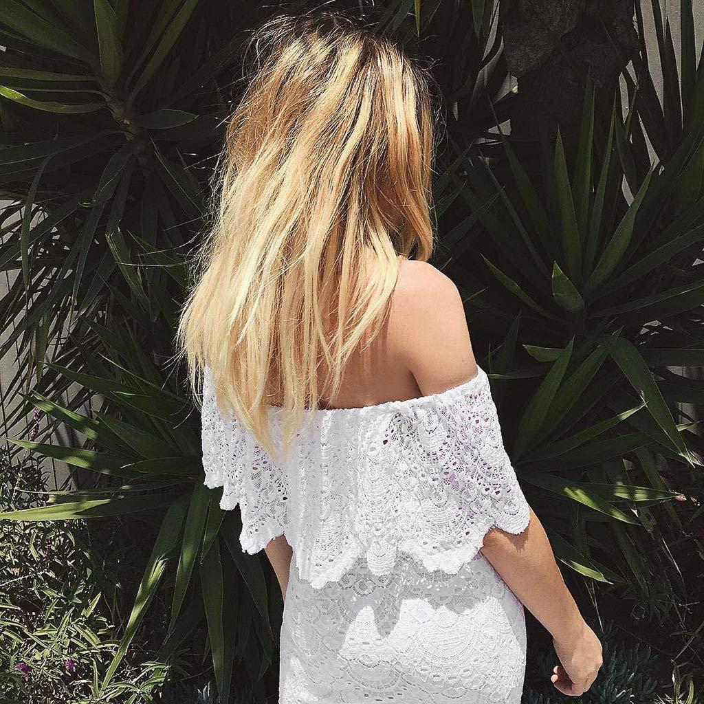 Amazon.com: YJYdada_ Blouse Women Sling Cross Wedding Beach Elegant Party Evening Slim Hollow Lace Dress (XL): Toys & Games