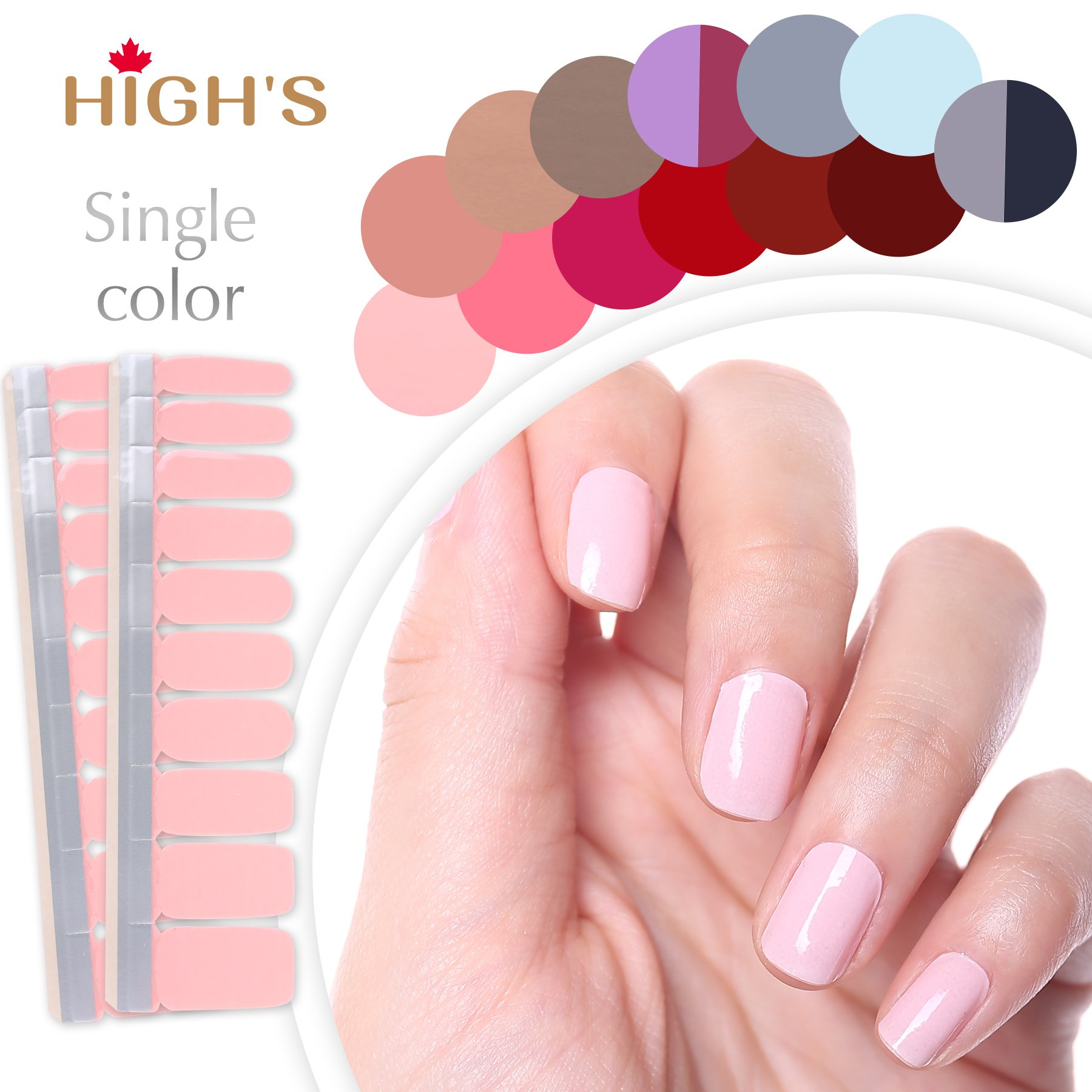 Amazon sally hansen salon effects french mani real nail highs single color series classic collection manicure nail polish strips nail wraps misty rose solutioingenieria Gallery