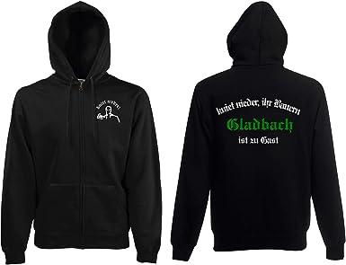 world-of-shirt Herren Kapuzenjacke Aachen Ultras kniet nieder