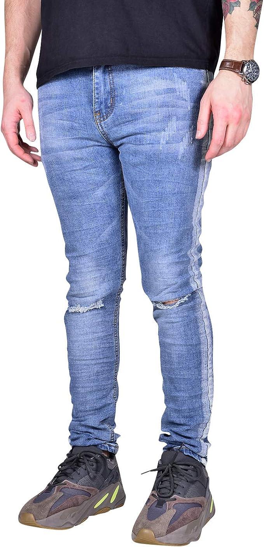 36 darkblue used Stretchjeans destroyed Look tapered leg NEU Jeans Gr