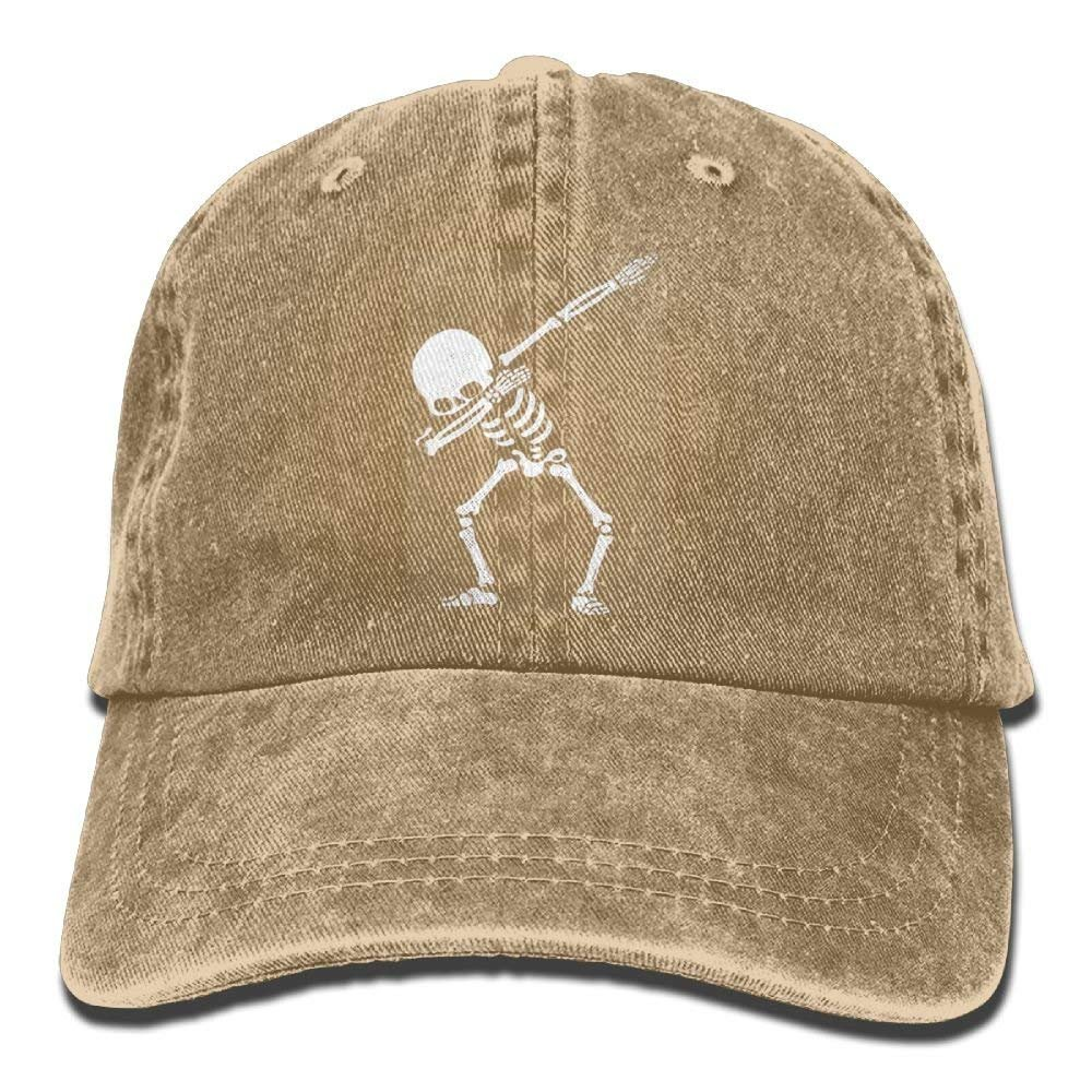 bowlife Dabbing Skeleton Unisex Denim Baseball Cap Adjustable Snapback Hats