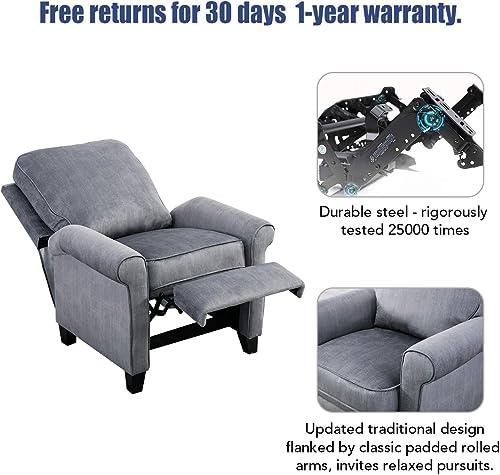 GOOD GRACIOUS Recliner Chair Modern Reclining Sofa