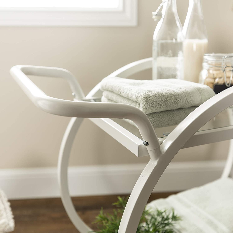 WE Furniture AZF32NOVWH Bar Cart, White