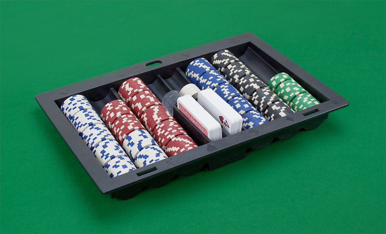 Plastic Poker, Blackjack, or other Casino Table Dealer Chip Tray by Da Vinci
