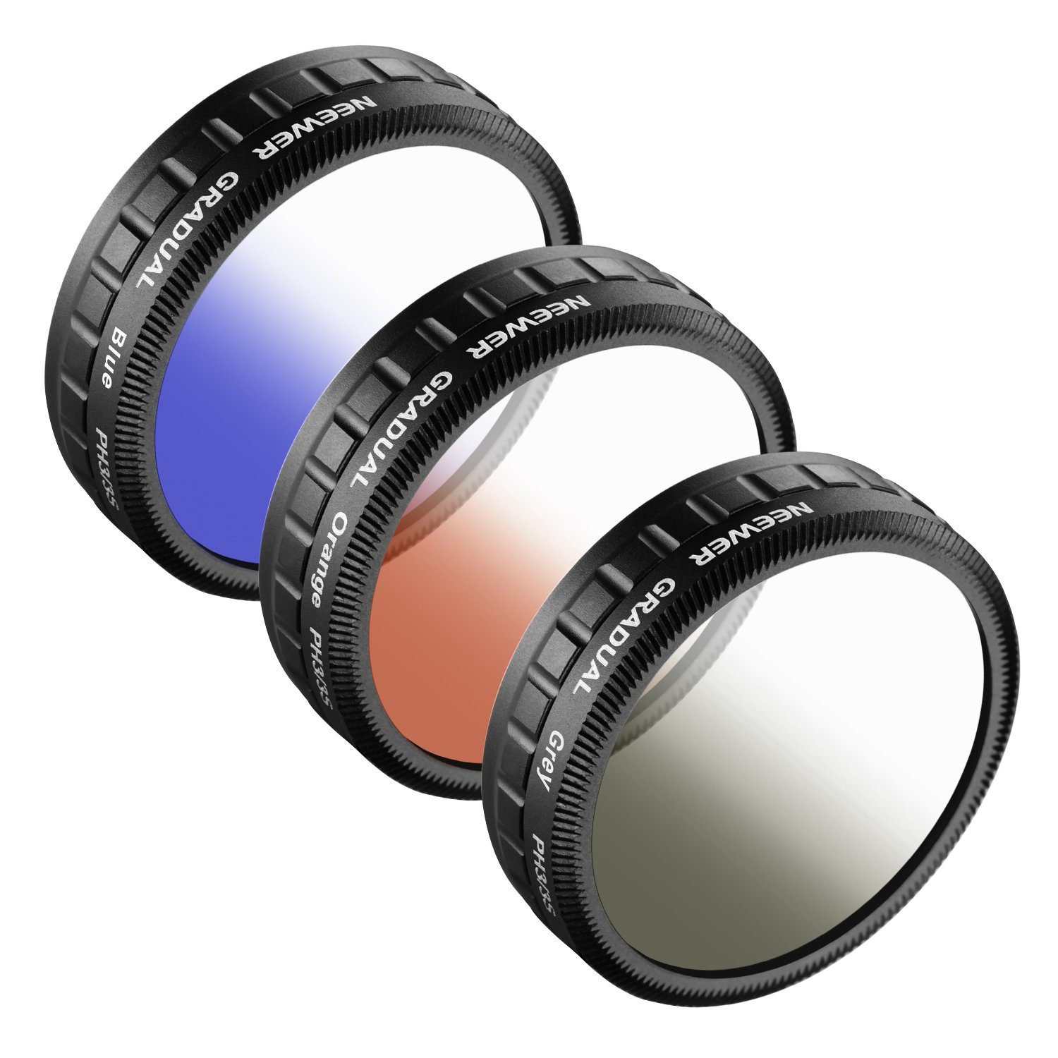 Neewer for DJI Phantom 3 Standard, 3PCS Graduated Color Filter Set: (1)Graduated Grey Filter+(1)Graduated Orange Filter+(1)Graduated Blue Filter, Not for DJI Phantom 3 Professional or Advance