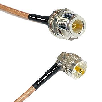 Amazon.com: Cable coaxial RF RG142 N hembra a UHF macho de 1 ...