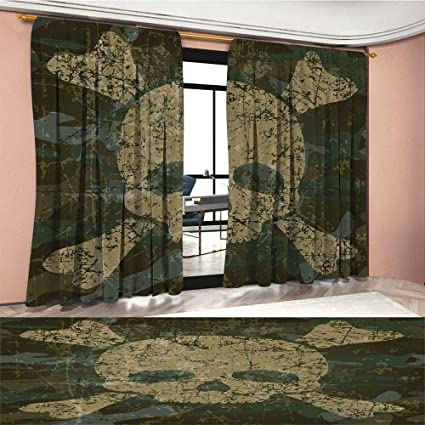 Amazon Camo Patterned Drape For Glass Door Abstract Texture