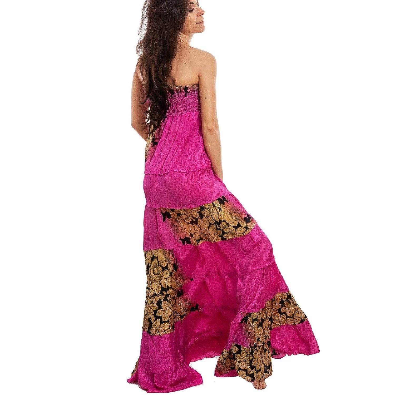 Toocool – Vestido de Mujer Largo étnico Ibiza Vestido Falda Ancha ...