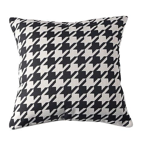 LAOM Almohada de Lino de algodón Simple nórdica, cojín de ...