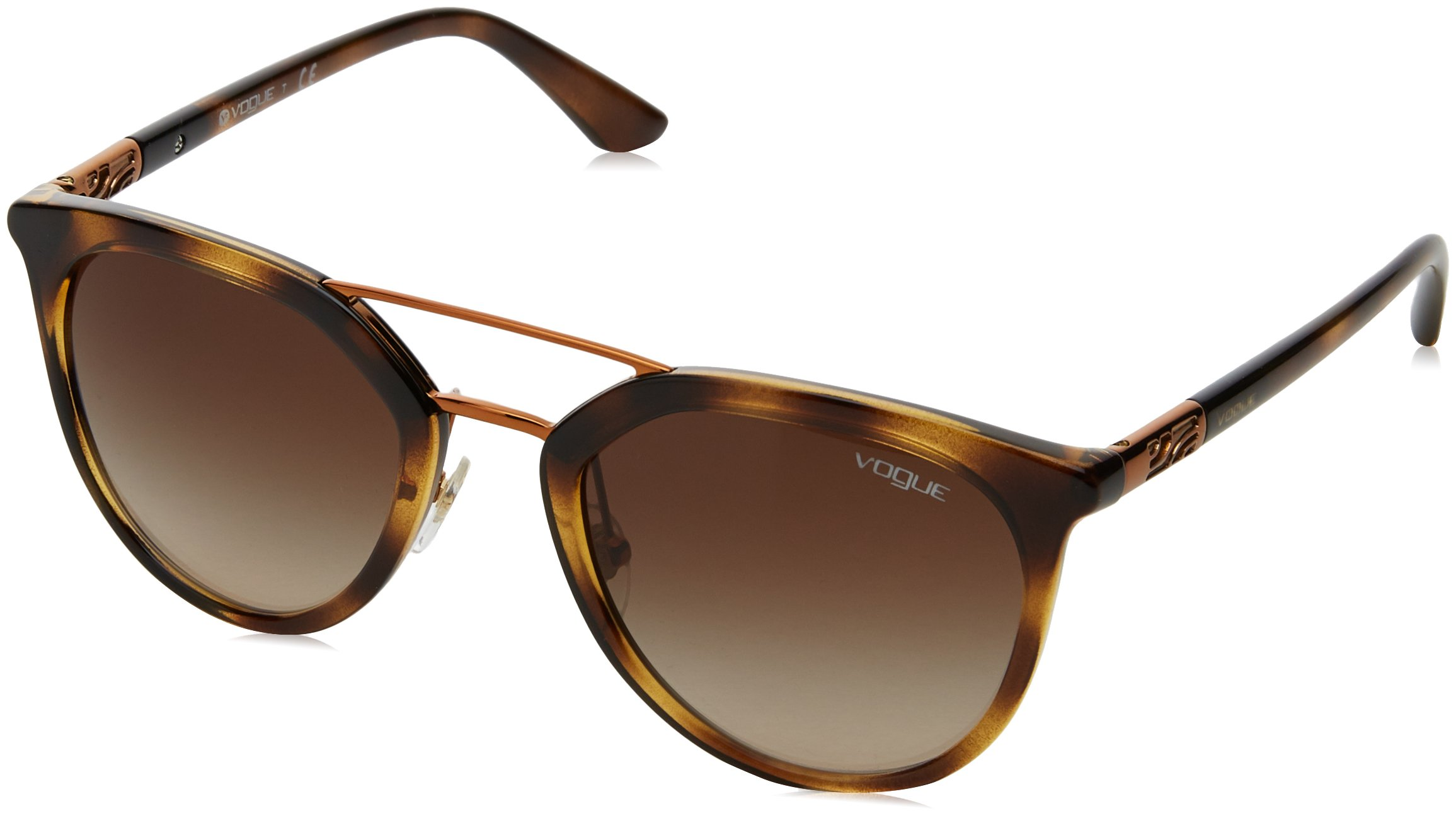 Ray-Ban Women's Plastic Woman Round Sunglasses, Dark Havana, 52 mm