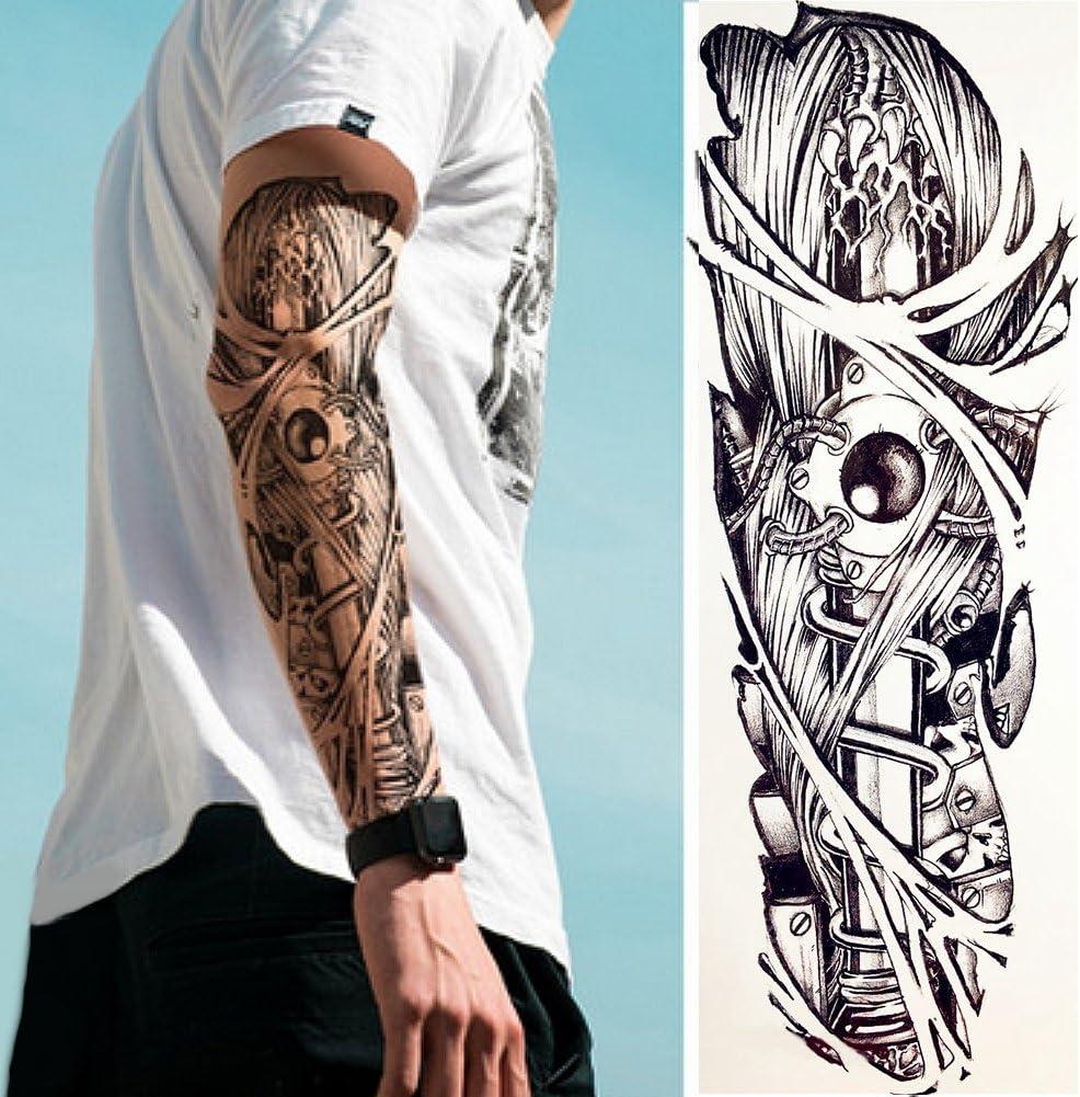 Just Fox – temporäres Tattoo mecánico brazo tatuaje con pegamento ...