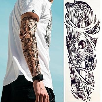 Justfox Temporäres Tattoo Mechanischer Arm Tätowierung Klebetattoo