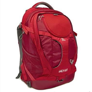 Kurgo G-Train Water Proof Dog Travel Backpack and Dog Carrier Backpack for Adventurous Small Dogs, Chili Red