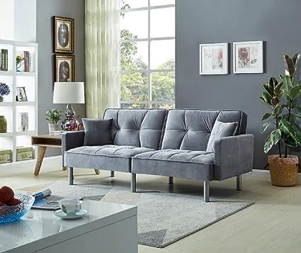 Amazon.com: Legend Vansen 1820 - Sofá cama, color gris ...