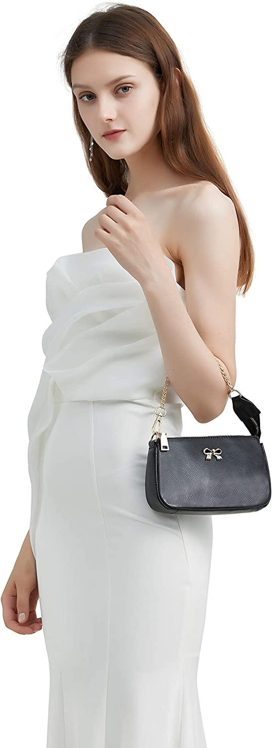 Genuine Leather Clutch Purses For Women Evening Bags With Chian Wedding Party Clutch Handbags