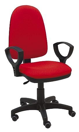 La Silla de Claudia - Silla giratoria de Escritorio Torino roja ergonómica reposabrazos Asiento Ajustable con