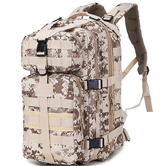 Amazon.com : Nutsima Outdoor Hiking Camping Hunting Molle 3P Military Tactical Backpack Army Assualt Pack Mochila Militar Tactica Nylon Tactical Bag Army ...