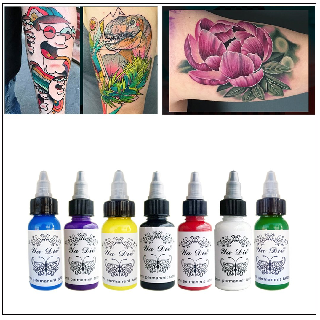 30ml Natural Plant Tattoo Pigment Permanent Makeup 1oz Bottle Tattoos Ink Pigment for Body Professional Beauty Art Supplies New 9pcs SFT