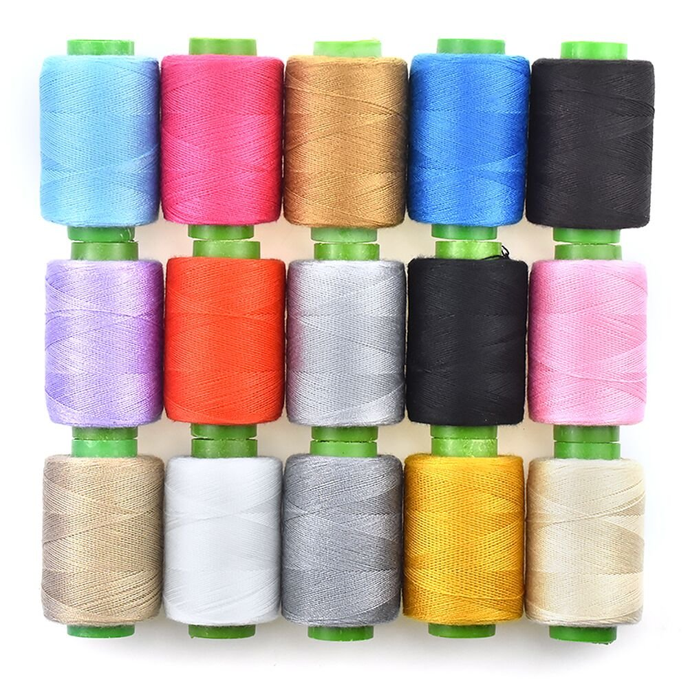 96Colors Sewing Thread Assortment Coil 250 Yards Each, Sewing Kit All Purpose Polyester Thread for Hand (96 Mixed Colors)