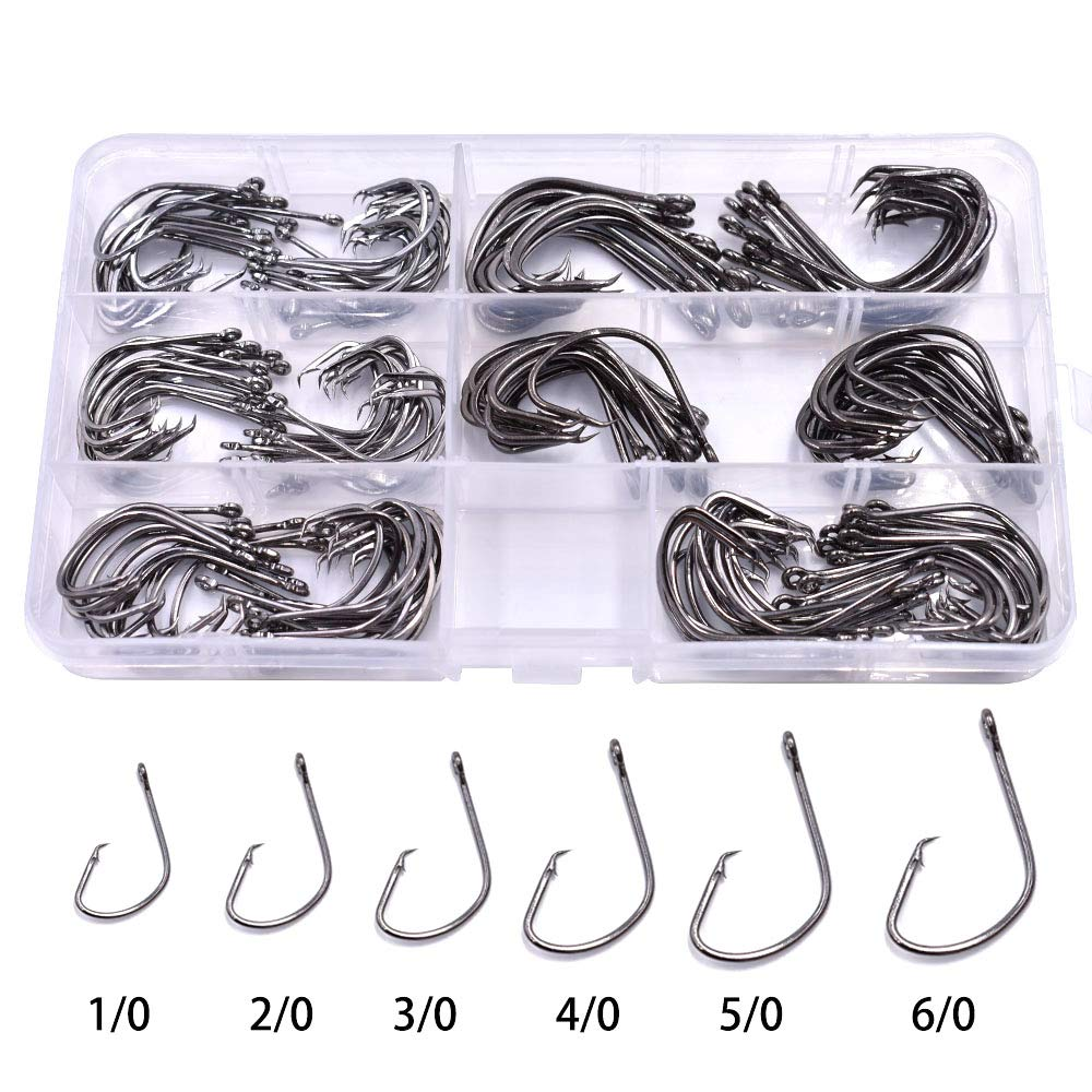25 Size 5//0 Custom Offshore Tackle Offset Circle Fishing Hooks 7384